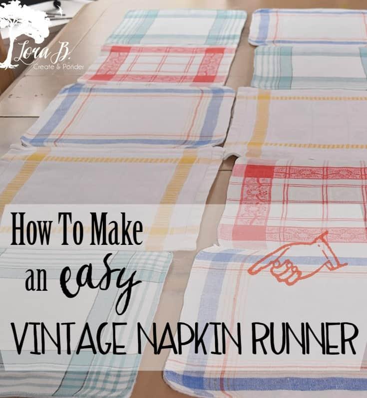 Vintage Napkin Runner