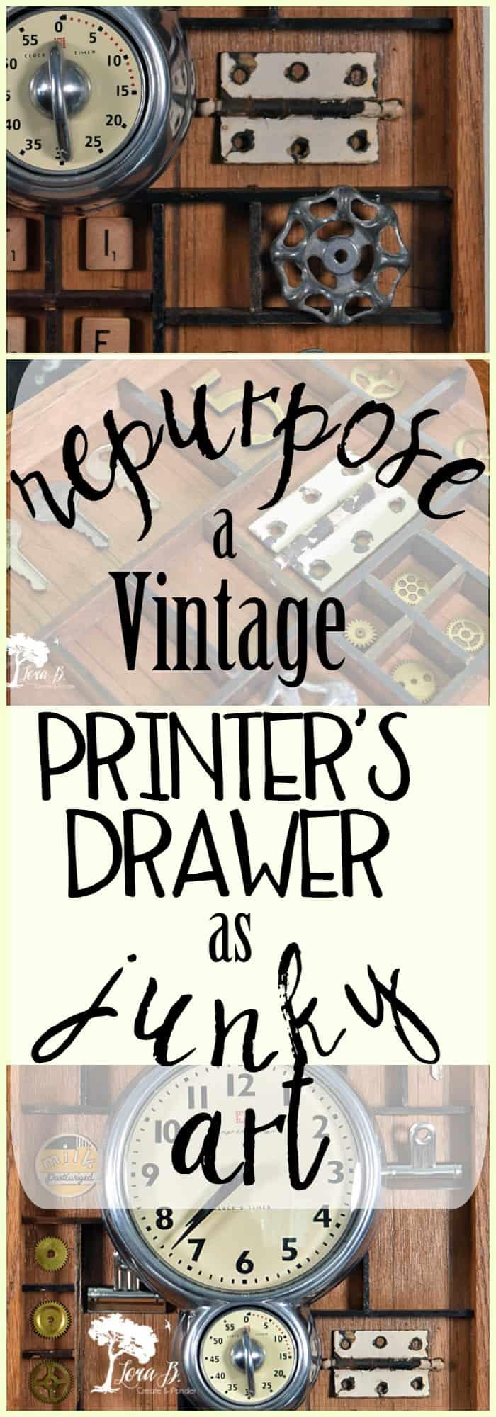 Repurpose a Vintage Printer's Drawer as Junky Art