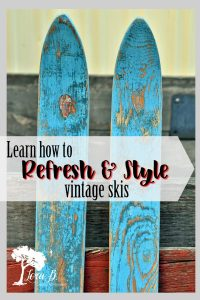 How To Refresh and Style Vintage Skis