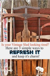 how to refresh a vintage sled