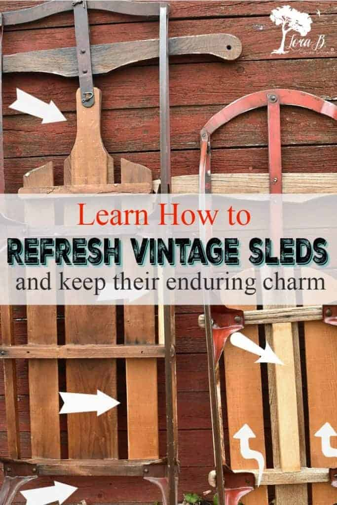 how to refresh vintage sled