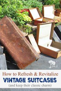vintage suitcase refresh