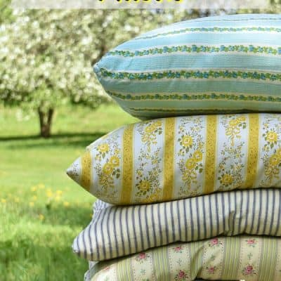 Vintage Ticking Pillows; Collecting and Caring For