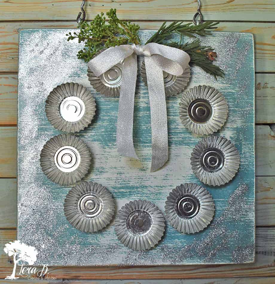tart mold Christmas wreath