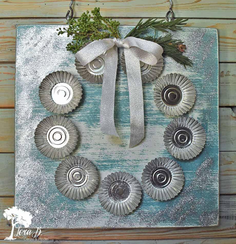 tart mold Christmas wreath