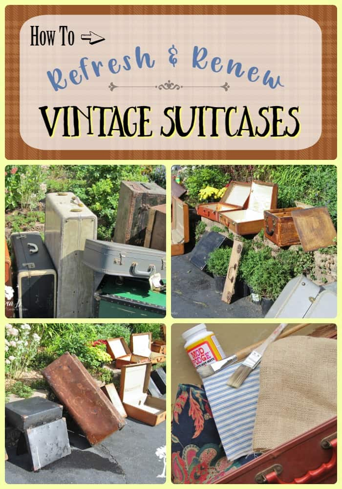 Vintage Suitcases have classic architectural charm. They can easily be refreshed and re-purposed using these tips. Learn how to give them a new lease on life and where to use them in your home.