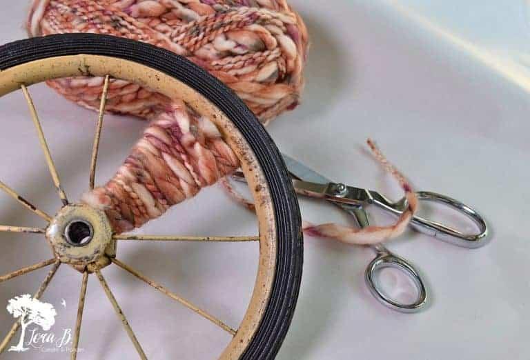 Repurposed Wheel Pumpkin DIY