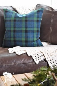 plaid wool pillow