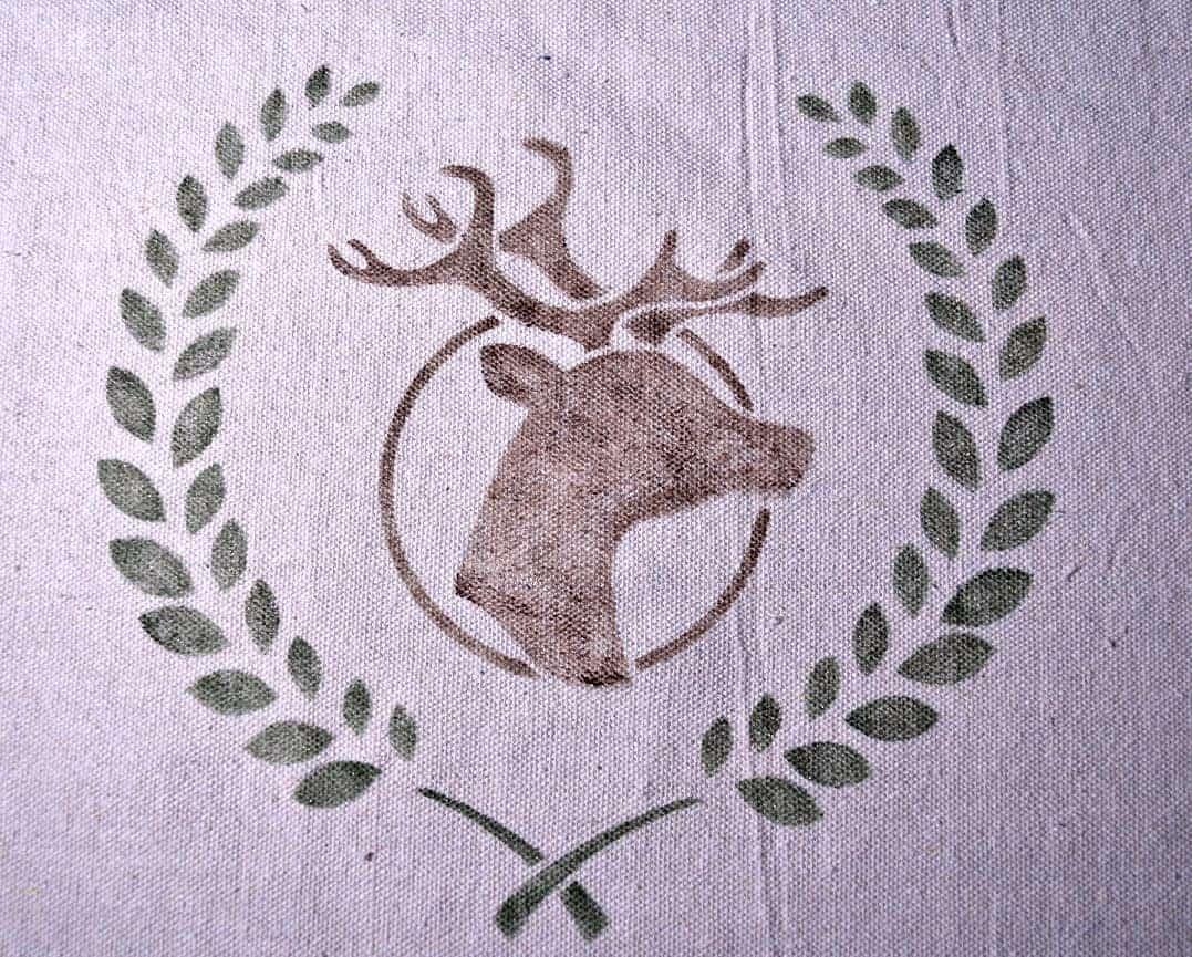 Old Sign Stencils deer pillow