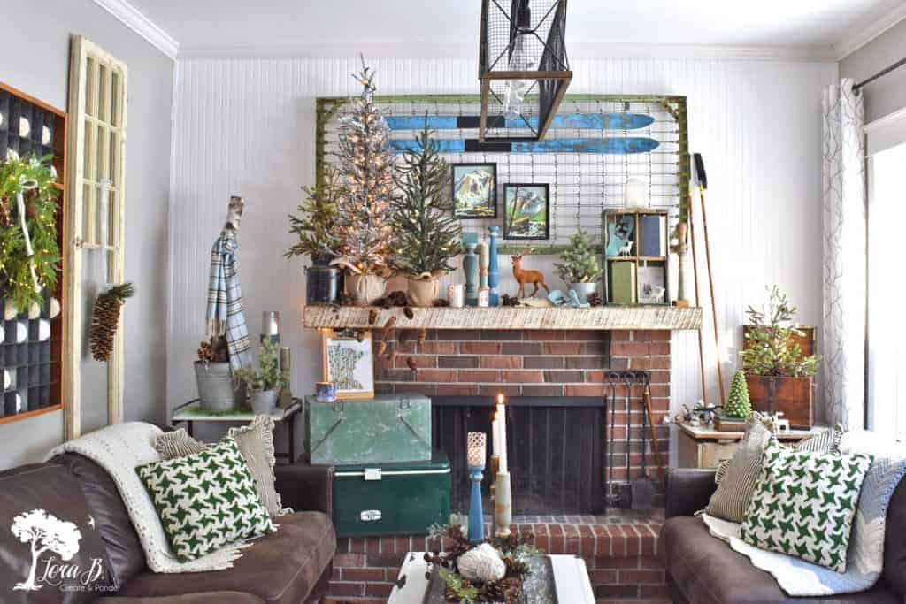 winter living room decor