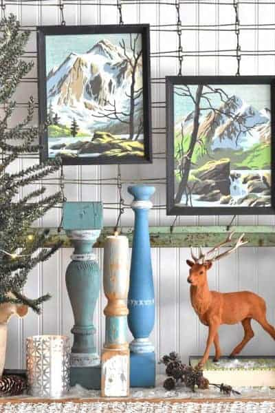 mountain paint by numbers as decor inspiration