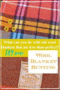 old wool blanket garland