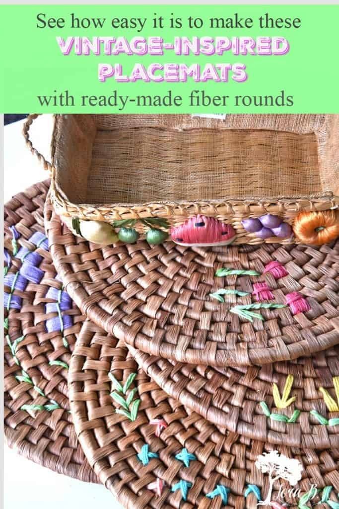 DIY vintage-inspired round placemats