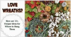 unique ideas for where to hang a wreath