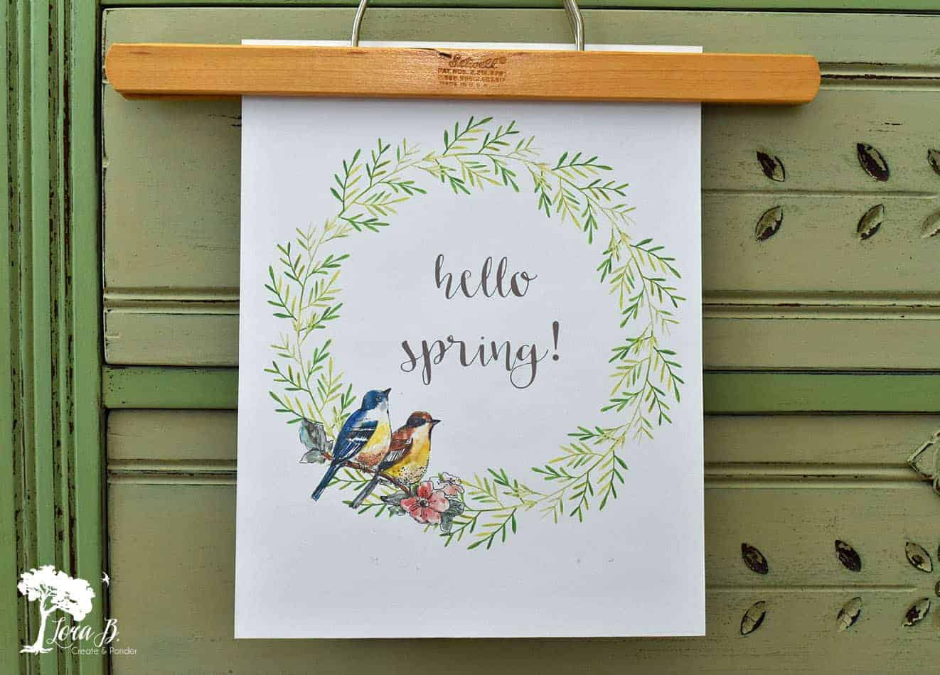 12 Best Spring Decorating and DIY Ideas + Free Spring Printable