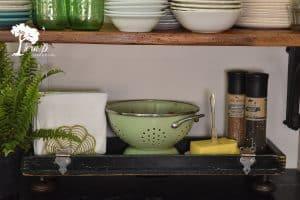 Vintage wooden toolbox repurpose